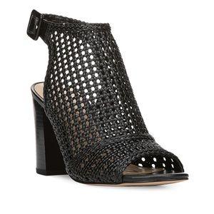 Sam Edelman Evie Basket-Weave Leather Heels